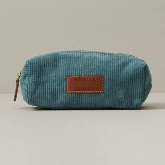 Indigo Paper Large Pencil Pouch Box Cali Coast Cord Teal