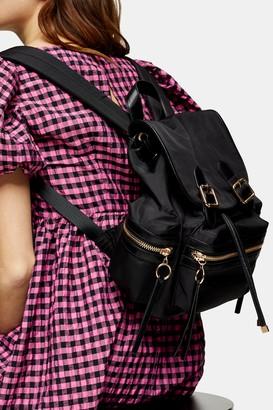 Topshop Black Nylon Backpack