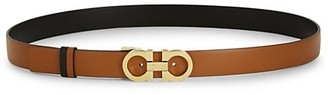 Salvatore Ferragamo Gancini Buickle Textured Leather Belt