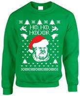 Allntrends Adult Crewneck Sweatshirt Ho Ho Hodor Ugly Christmas Sweater (S, )