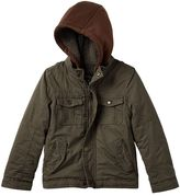 Urban Republic Toddler Boy Hooded Sherpa-Lined Peached Twill Midweight Jacket