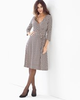 Soma Intimates Leota 3/4 Sleeve Wrap Dress Wicker