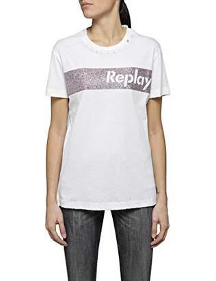Replay Women's W3940r.000.22660 T-Shirt, (Optical White 1)
