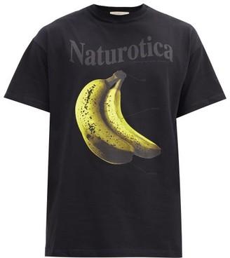 Christopher Kane Naturotica Banana-print Cotton T-shirt - Black
