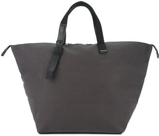 contrast handle large Bowler bag