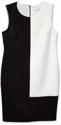 Calvin Klein Women's Sleeveless Color Block Dress