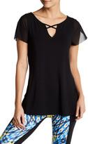 Nanette Lepore Mesh Flutter Sleeves Shirt