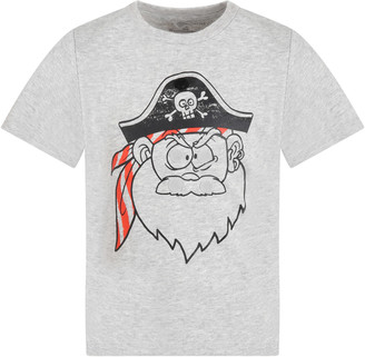 Stella McCartney Kids Grey T-shirt For Boy With Pirate