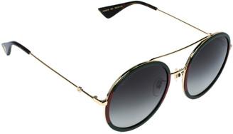 Gucci Green & Red /Green Gradient GG0061S Round Sunglasses