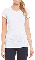 Nygard Collection Peter Nygard Performance V- Neck Ruched Tee