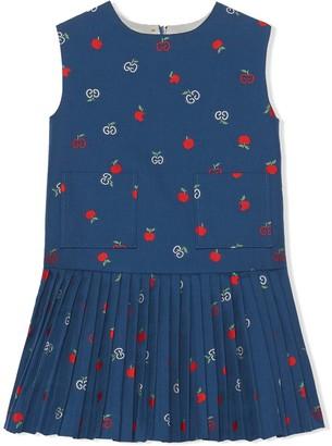 Gucci Kids GG apple sleeveless dress