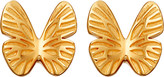 Astley Clarke Mini butterfly biography 18ct yellow gold-plated stud earrings