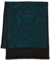 Versace Wool Multi Logo Scarf
