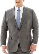 Claiborne Black & White Nailhead Suit Jacket-Big & Tall