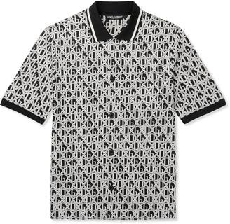 Dolce & Gabbana Slim-Fit Logo-Print Cotton-Jersey Shirt - Men