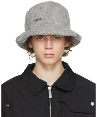 C2H4 Grey Fleece Bucket Hat