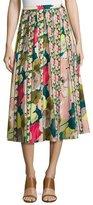 Lafayette 148 New York Adalia Floral-Print Silk Midi Skirt, Celia Bouquet