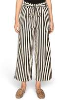 Amuse Society Stripe Crop Wide Leg Pants