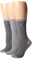 Lauren Ralph Lauren Herringbone Trouser 3 Pack Women's Crew Cut Socks Shoes