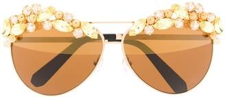 Philipp Plein Sunshine embellished aviator sunglasses
