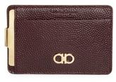 Salvatore Ferragamo Pebbled Calfskin Money Clip