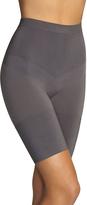 Gray Seamless Engineered Shaper Bike Shorts