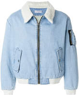 Gosha Rubchinskiy shearling collar denim jacket