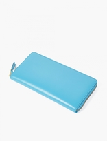 Comme Des Garcons Wallet Blue Classic Large Leather Wallet
