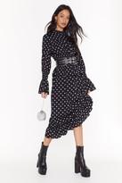Nasty Gal Womens As Star as I Remember Frill Maxi Dress - black - 6, Black