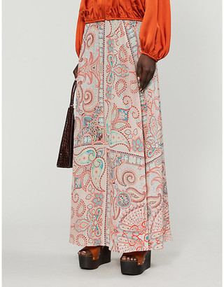 Etro Gonna Ibisco silk maxi skirt