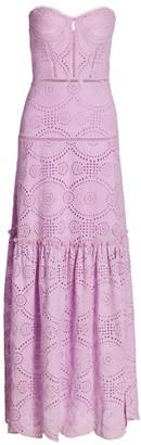 Jonathan Simkhai Juliette Strapless Lace Maxi Dress
