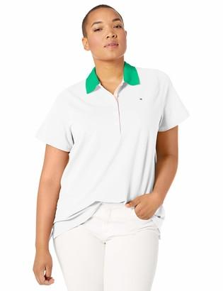 Tommy Hilfiger Women's Plus Size Contrast Polo Shirt