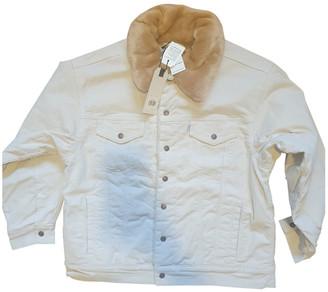 Levi's Beige Velvet Leather jackets