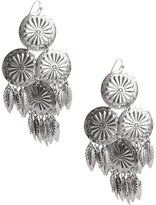 Forever 21 Floral Feather Drop Earrings