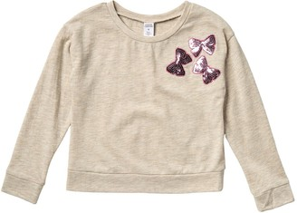 Harper Canyon Sequin Applique Sweatshirt (Little Girls)