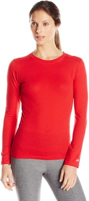 Soffe Juniors Long Sleeve Tissue Tee Red Large
