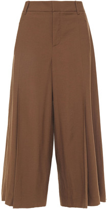 Vince Pleated Woven Culottes
