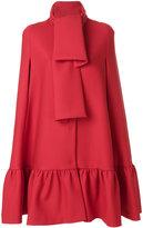 MSGM peplum hem cape - women - Polyester/Spandex/Elastane/Viscose/Virgin Wool - 38