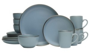 Pfaltzgraff hadlee blue 16 pc dinnerware set, service for 4