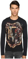 Versace Classic Printed Long Sleeve Tee Men's T Shirt