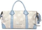 Eddie Harrop Voyager Leather-trimmed Printed Canvas Weekend Bag