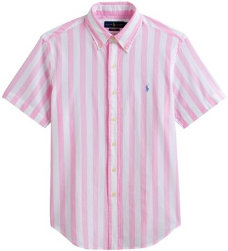 Polo Ralph Lauren Cotton Poplin Shirt with Short Sleeves