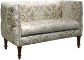 Skyline Furniture Linen and Viscose Damask Button-tufted Settee