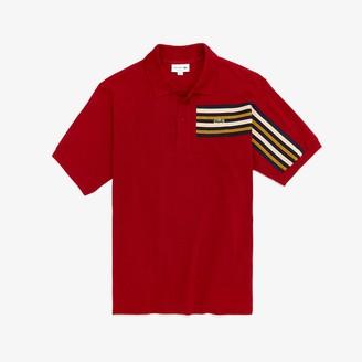 Lacoste Men's L.12.12 Off-Center Stripe Cotton Pique Polo
