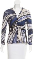 Jean Paul Gaultier Silk Abstract Cardigan
