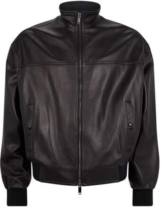 Valentino Leather Distressed Biker Jacket