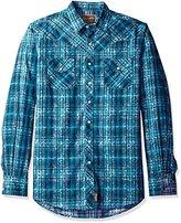 Wrangler Men's Tall Size Retro Long Sleeve Western Shirt