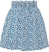 Kenzo Smocked Jacquard Mini Skirt