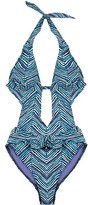 Marc By Marc Jacobs One Piece Chevron Swimsuit