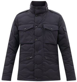 Moncler Senn Quilted-down Field Jacket - Navy